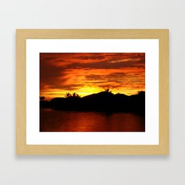 ORANGE SKY. Framed Art Print