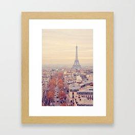 autumn in paris Framed Art Print