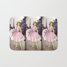 Pretty In Pink In Paris Bath Mat