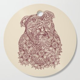 MANDALA OF ENGLISH BULLDOG Cutting Board