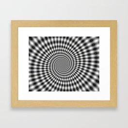 Spiral optical illusion Framed Art Print