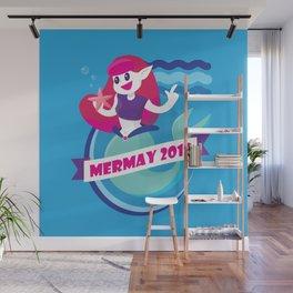 Cute Mermay Mermaid Art Challange Wall Mural