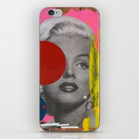 marilyn iPhone & iPod Skins featuring Marilyn by FAMOUS WHEN DEAD