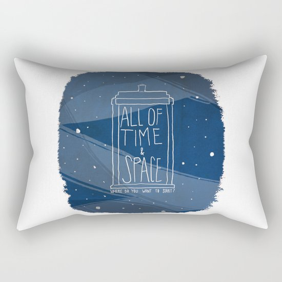 All Of Time And Space Rectangular Pillow