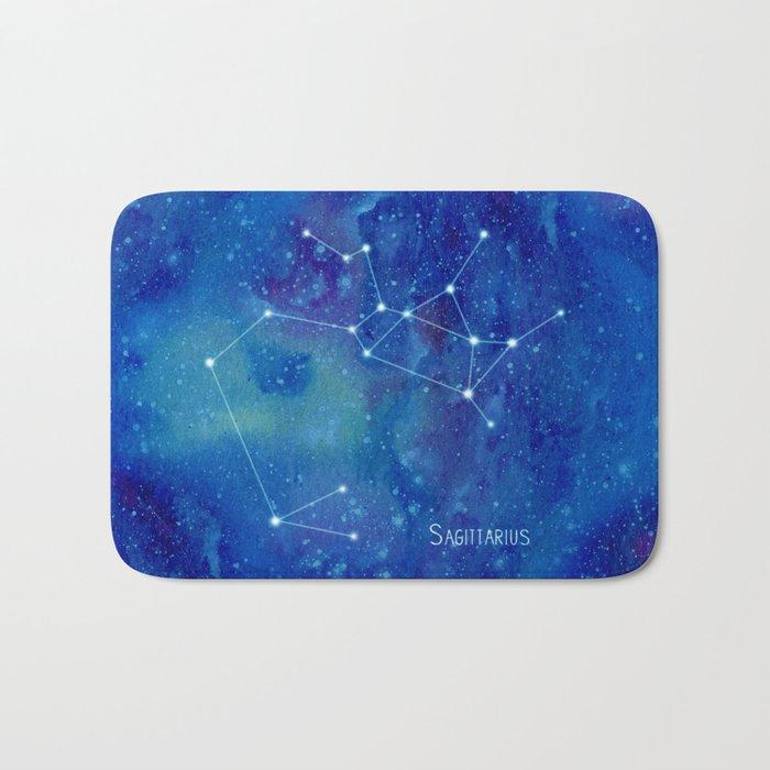 Constellation Sagittarius  Bath Mat