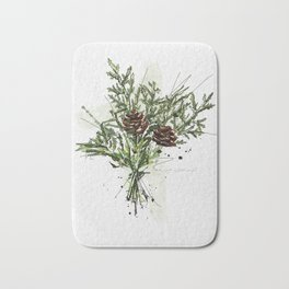 Greens of Christmas Bath Mat