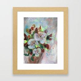 Begonia Blooms Framed Art Print