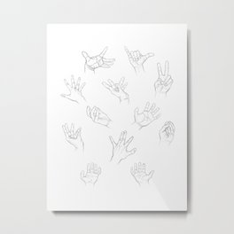 Free Hands Metal Print
