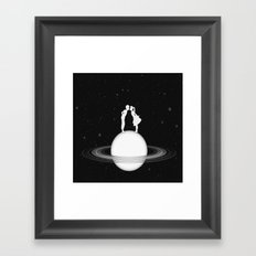 Love on Saturn Framed Art Print
