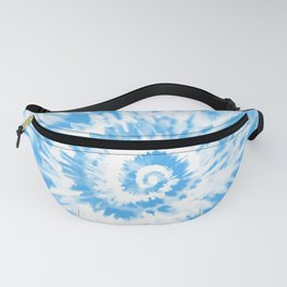 Light Ocean Blue Tie Dye Fanny Pack