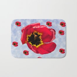 Lots of Bloomin' Tulips Bath Mat