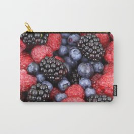 Summer raspberry, blueberry and blackberry berry pattern Carry-All Pouch