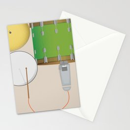 Drum Set Print Stationery Cards