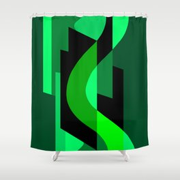 SUISSE - Art Deco Modern: NIGHT VISION Shower Curtain