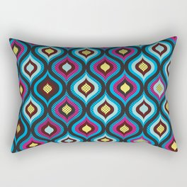 Eye Of The Peacock Rectangular Pillow