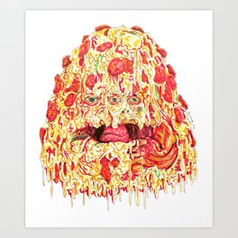 Pizza Slob Art Print