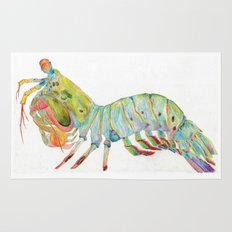 Peacock Mantis Shrimp Rug