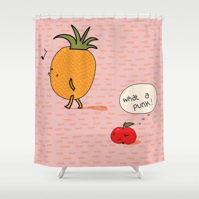 Punk Shower Curtain By Peachit