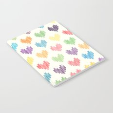 Colorful Knitted Hearts II Notebook