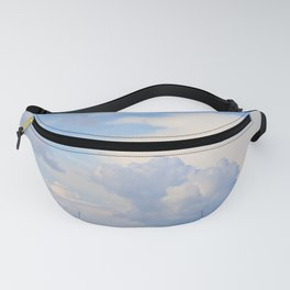 Blue Lakescape With White Clouds In The Blue Sky #decor #society6 Fanny Pack
