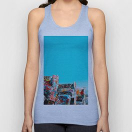 West Coast Road Trips Series: Cadillac Ranch Unisex Tank Top
