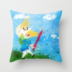 I'm all about swords! Throw Pillow