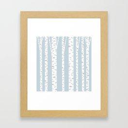 Minimalist Birch Trees by Amanda Laurel Atkins Framed Art Print