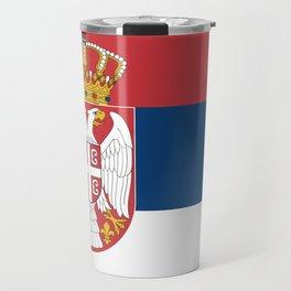 Flag of Sebia Travel Mug