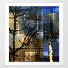 Posterize Dead Trees Art Print