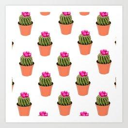 Pink Cactus Multi Art Print