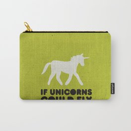 If unicorns could fly. Carry-All Pouch