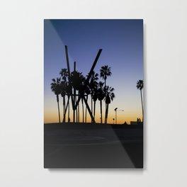 Venice Beach Sunset Metal Print