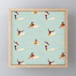 Waikiki beach Framed Mini Art Print