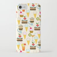 dessert iPhone & iPod Cases featuring Dessert by Valendji