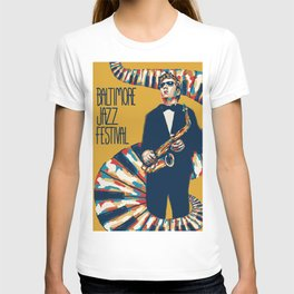 Jazz Festival Poster T-shirt