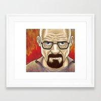 walter white Framed Art Prints featuring Walter White  by gunberk