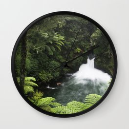 Kaituna Waterfall 2 Wall Clock