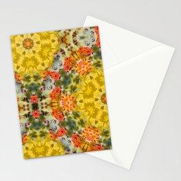 Marigold Kaleidoscope Photographic Pattern #2 Stationery Cards