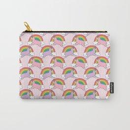 Llamacorns (Llama Unicorns) and Rainbows Carry-All Pouch