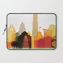 Austin colorful skyline Laptop Sleeve