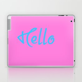 Hello Saying In Pink And Blue Laptop & iPad Skin