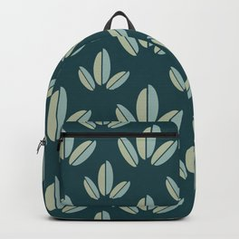 Modern Leaves Dk Green Backpack