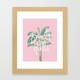 beverly hills Framed Art Print
