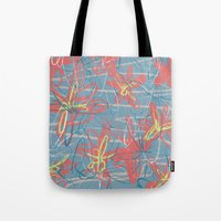 patrick Tote Bags featuring Patrick by hoopderscotch