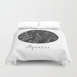 Aquarius Constellation Duvet Cover