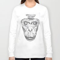 ape Long Sleeve T-shirts featuring Ape by Eugene Lee