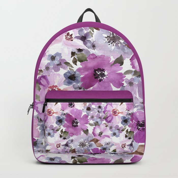 FLOWERS WATERCOLOR 15 Backpack