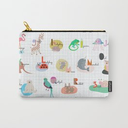 The Animal ABC , alphabet Carry-All Pouch
