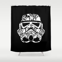 playstation Shower Curtains featuring Trooper by eARTh