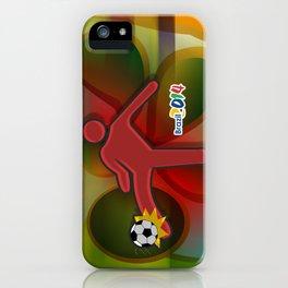 Soccer Kicker Icon iPhone Case